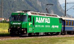 """$ $ RhB Ge 4/4 III 647 Werbelok """"A&M AG"""""""