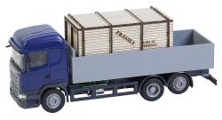 Lorry Scania R 13 HL Platform with wooden crate (HERPA)
