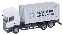 Lorry Scania R 13 TL Sea container (HERPA)