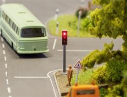 2 LED Traffic lights with electronics