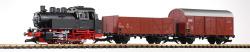 G-Start-Set Güterzug BR 80 + zwei Güterwg. + Sound und Dampf DB III
