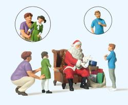 Weihnachtsmann in Sessel.Mut