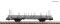 Fleischmann 825749 Swivel stanchion trolley grey