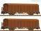 Fleischmann 826214 Set of 2: Covered goods wagon with brakes