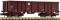 Fleischmann 828348 Eas open goods wagon, brown