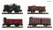 Fleischmann 880907 4-piece set DRB goods wagon