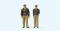 Preiser 65363 1:45 Polizisten stehend