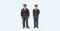 Preiser 65364 1:45 Polizisten stehend