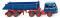 Wiking 067705 Hinterkippersattelzug (MB LPS 333) - enzianblau